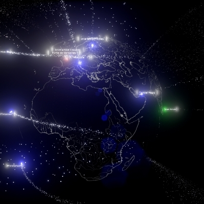 All the data points on their locations in DatSat ONE