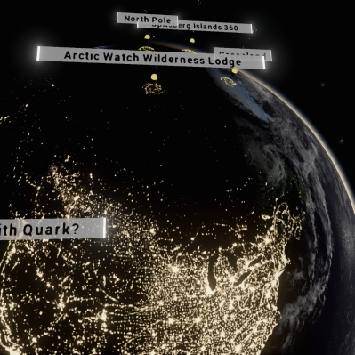 A look at North America from Space in Quark Expeditions project