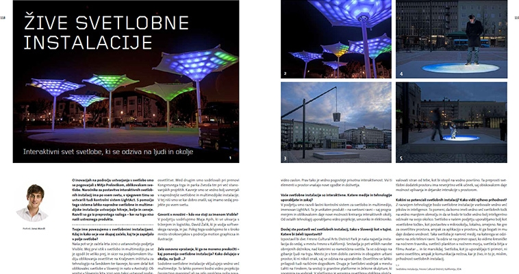 Living Lighting Installations: interview with Mitja