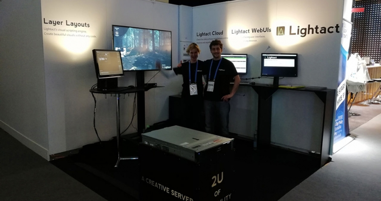 Lightact successfully exhibited on Prolight & Sound 2018